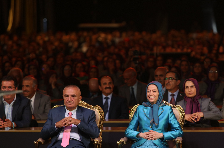 Maryam Rajavi Ilir Meta Ashraf 3 Albania Iran MEK, 13 September 2019