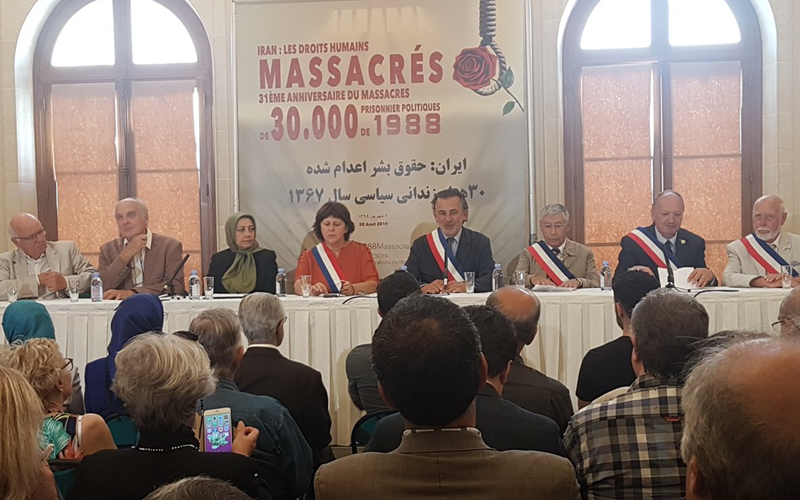 An event commemorating Iran's 1988 massacre of political prisoners was held on Friday in Paris District 1's City Hall.