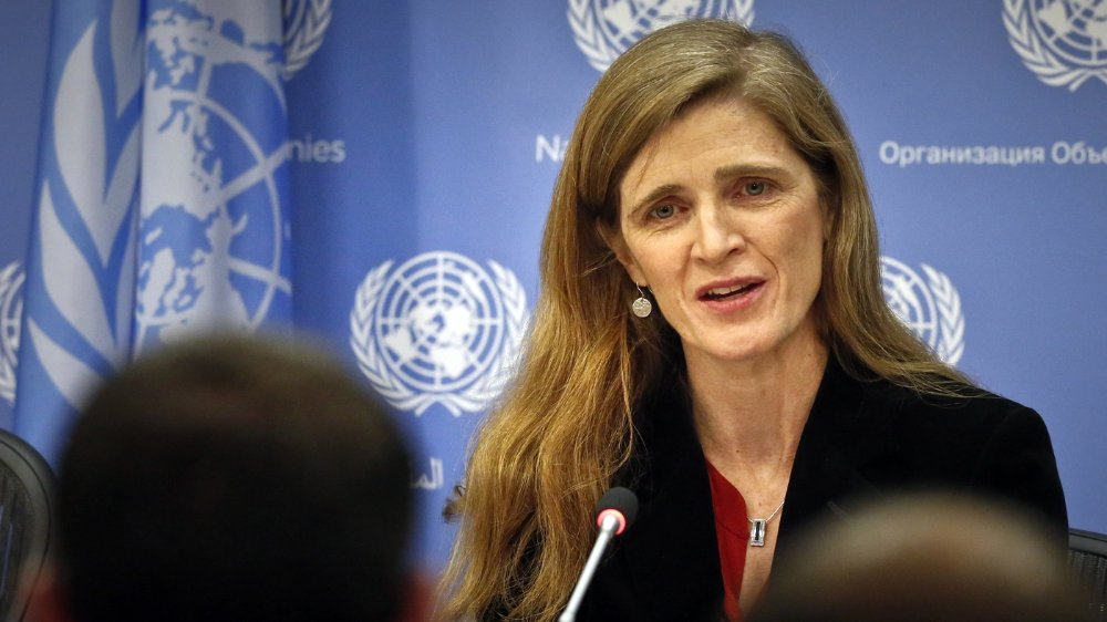 Samantha Power, former United States Ambassador to the United Nations from 2013 to 2017