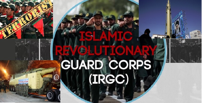 The Islamic Revolutionary Guards Corps, the main force behind the Iranian regime's terrorism and malign behavior in the region