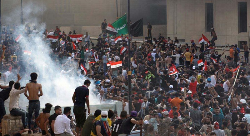 Recent Protests in Iraq. Iranian proxy forces were used to disperse the demonstration