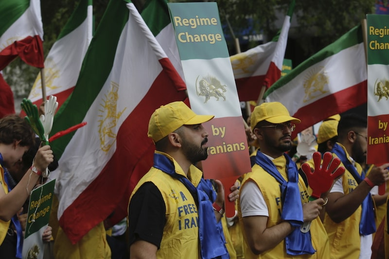 "MEK's ""No to Rouhani"" rally outside of the United Nations in New York on September 24 and 25"