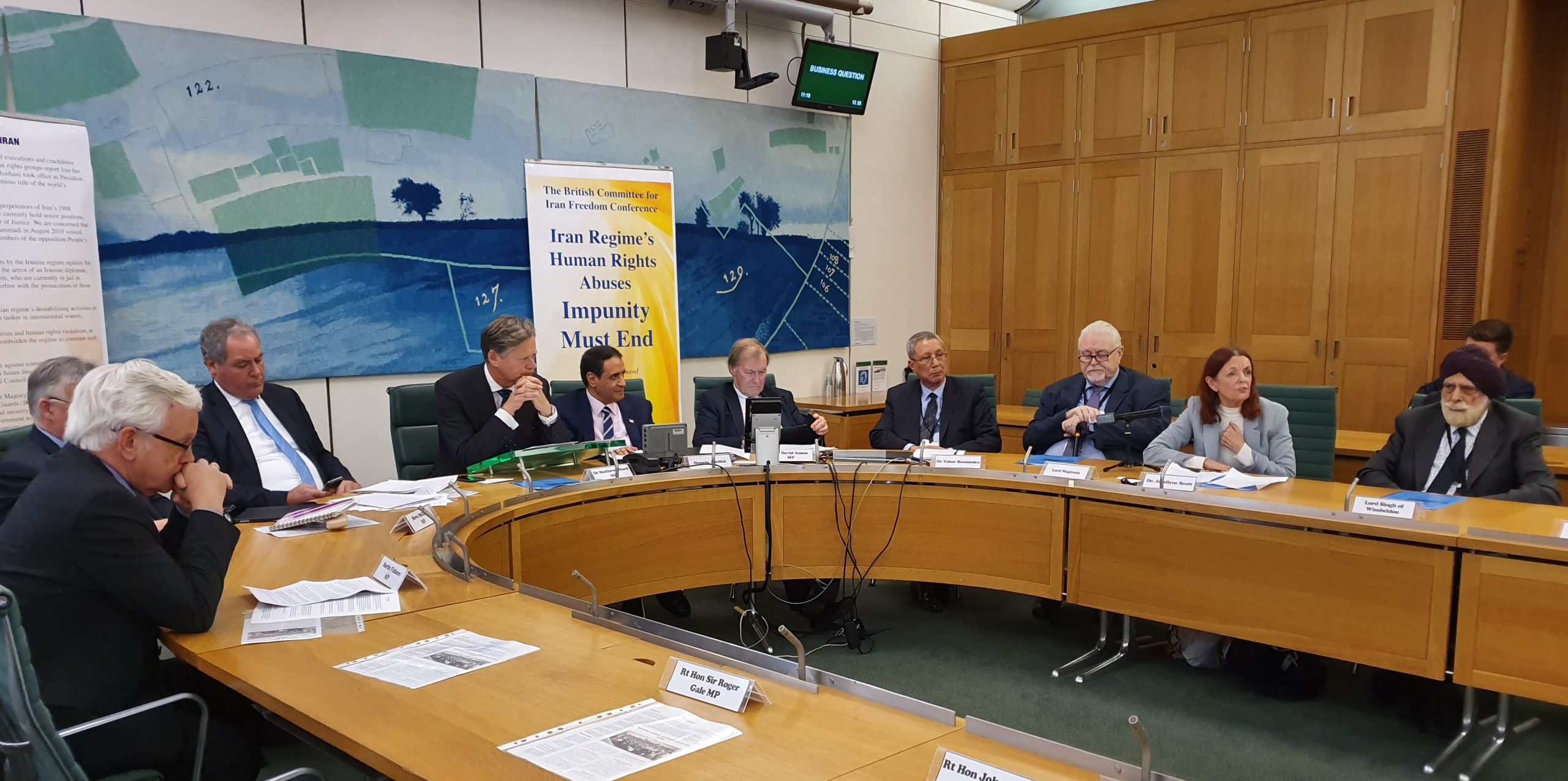 Conference on situation of human rights in Iran, held at the house of commons- October 17, 2019