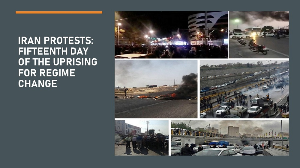 Iran Protests: Fifteenth Day of the Uprising for Regime Change