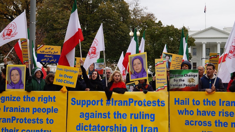 Iranian Americans Rally in Solidarity With the Ongoing Uprising in Iran
