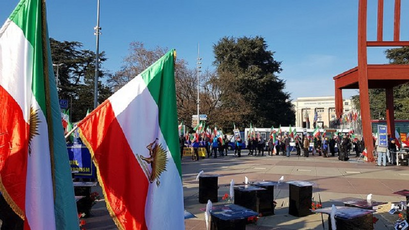 On November 8, 2019, supporters of the People's Mojahedin Organization of Iran (PMOI/MEK), staged a demonstration in front of the UN office in Geneva.