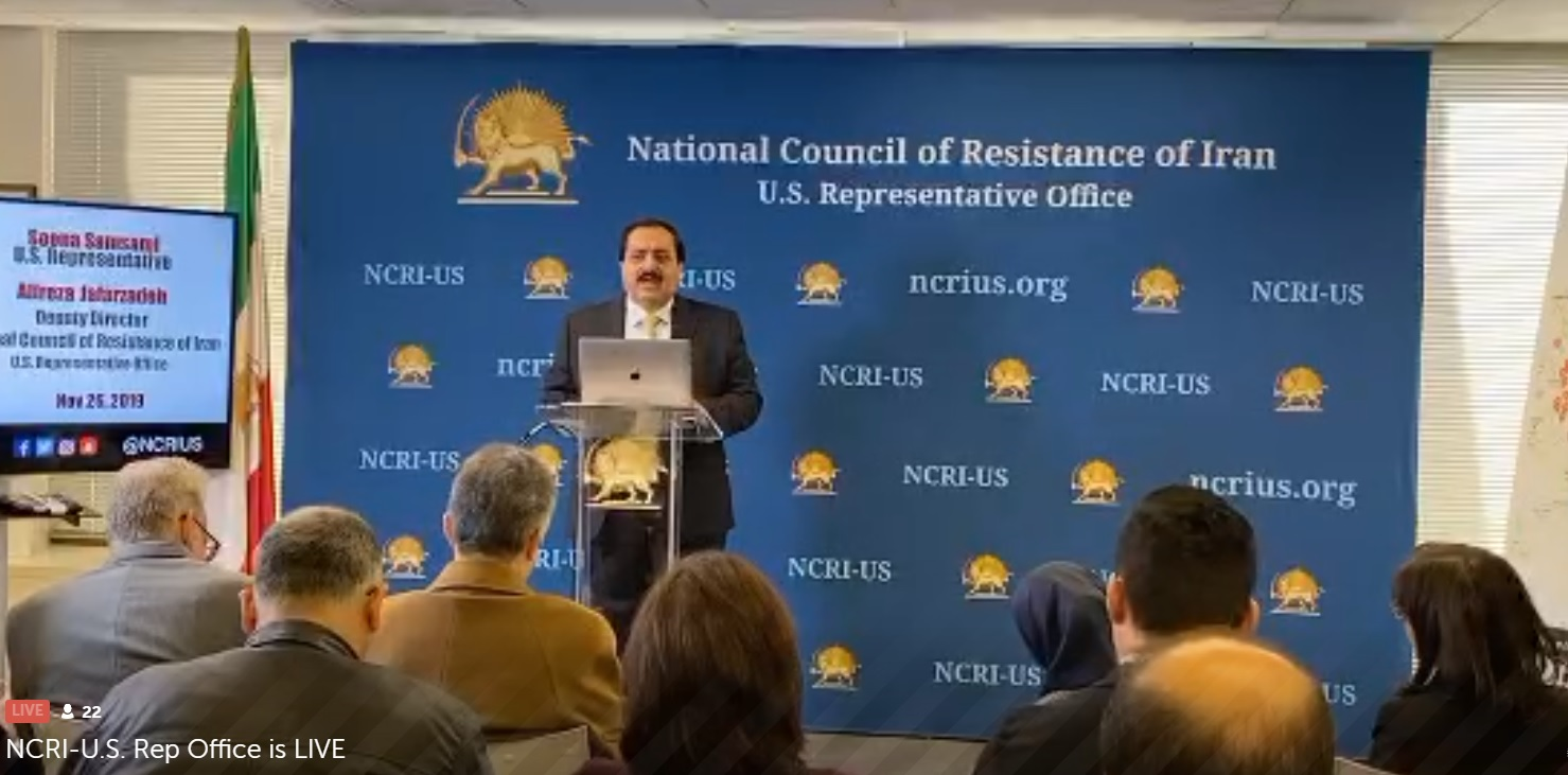 The NCRI-US office news conference on Iran Protests-November 26, 2019