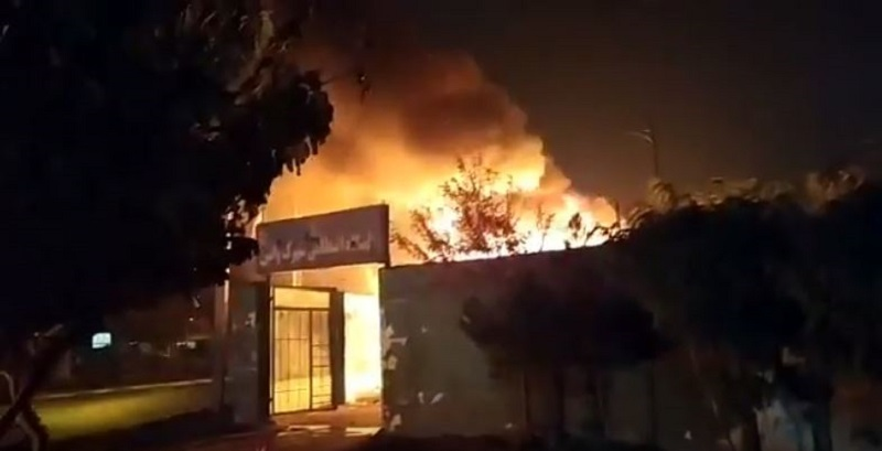 Protesters torched centers of repression and plunder, including Bassij bases and government-controlled banks in many cities-November 16, 2019
