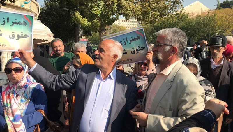 IRAN: Retirees, Defrauded Investors Gather Outside Regime Majlis, Attacked by Suppressive Forces