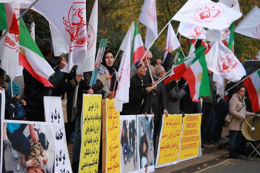 MEK Supporters in Europe Rally in Solidarity With Protesters in Iran
