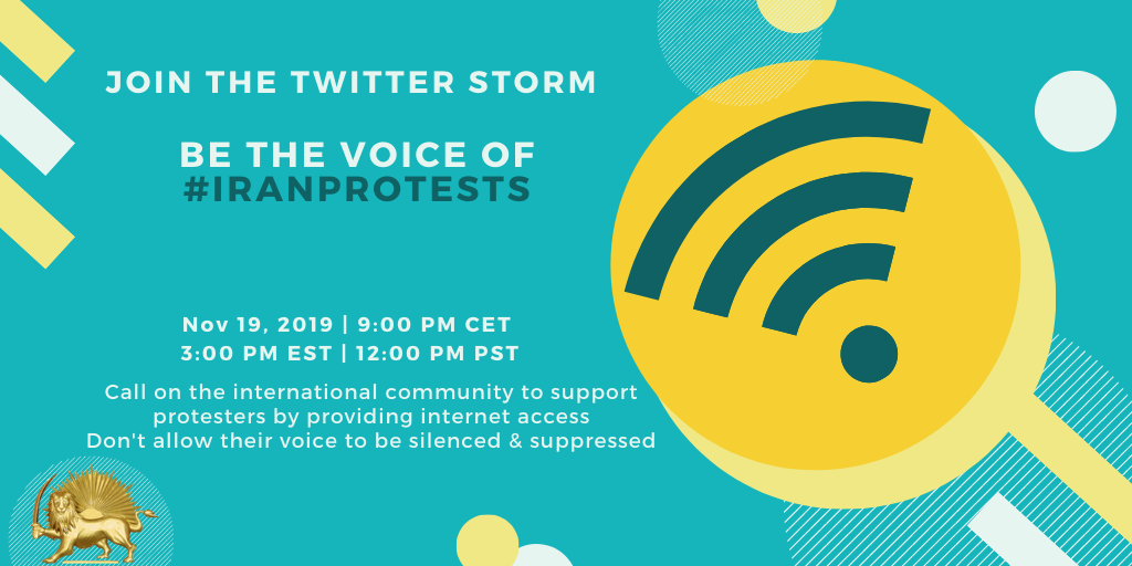 Iranians Worldwide to Hold Tweetstorm Demanding Internet for Iran, as Protests Continue