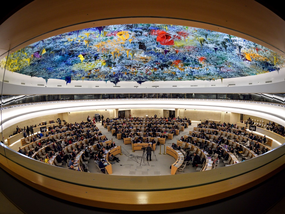 The Iranian regime's representative to the OHCHR , claimed that the opinion of UN Special Rapporteur Javaid Rehman reflects that of Iran's main opposition group, the People's Mojahedin Organization of Iran (PMOI/MEK)