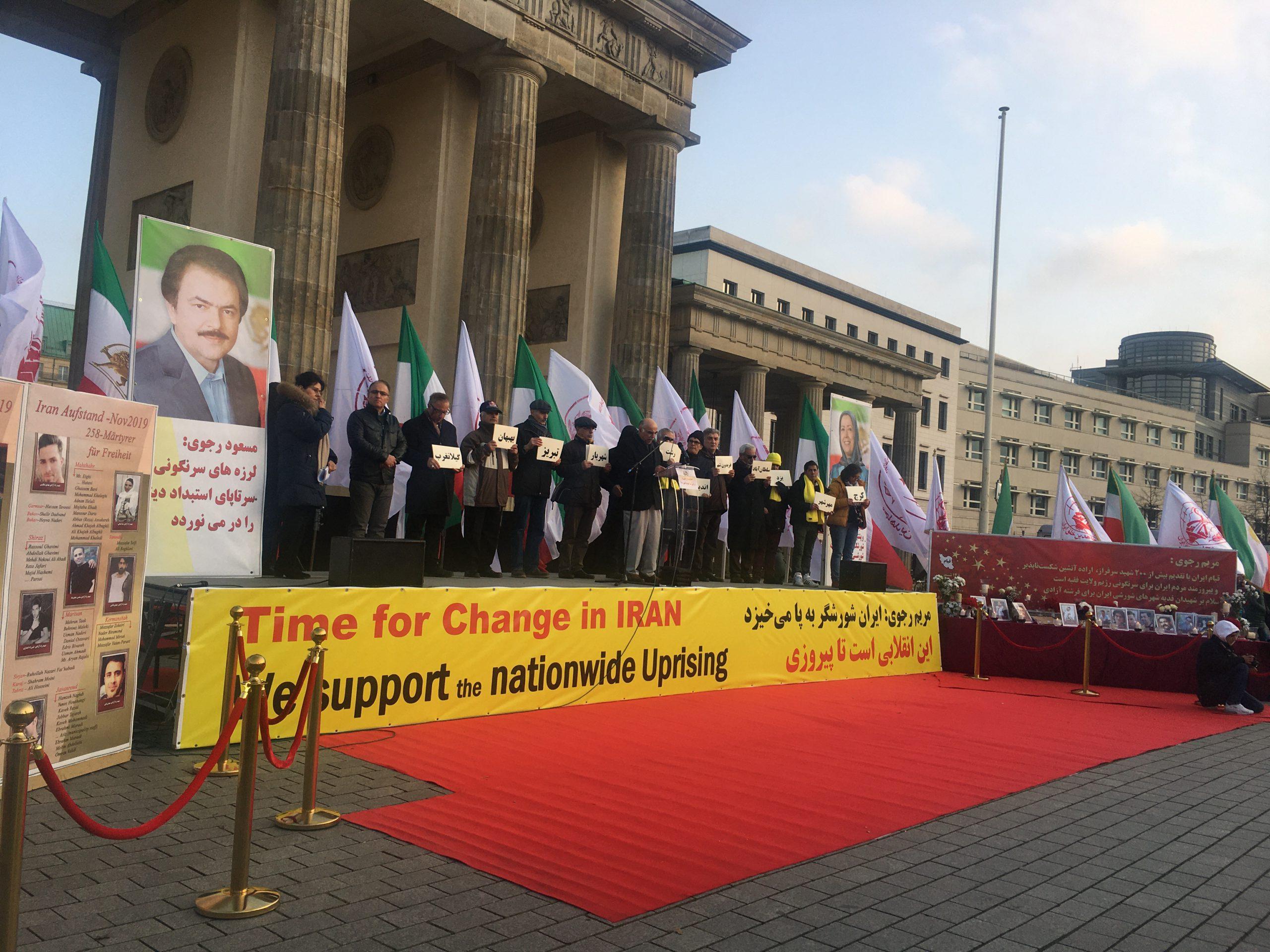MEK rally in Berlin in solidarity with Iran Protests - November 23, 2019