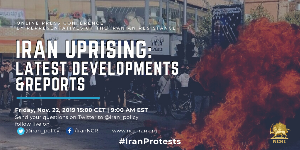 Live conference, discussing Iran uprising. Representatives of the Iranian opposition to discuss Iran Protests