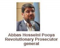 Abbas Hosseini Pooya Revolutionary Prosecutor General