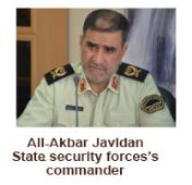 Ali-Akbar Javidan State Security forces's commander
