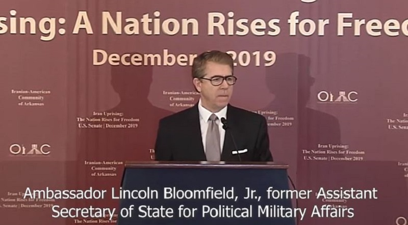 Ambassador Lincoln Bloomfield Expresses His Support of the Iran Protests at the U.S. Senate Briefing.