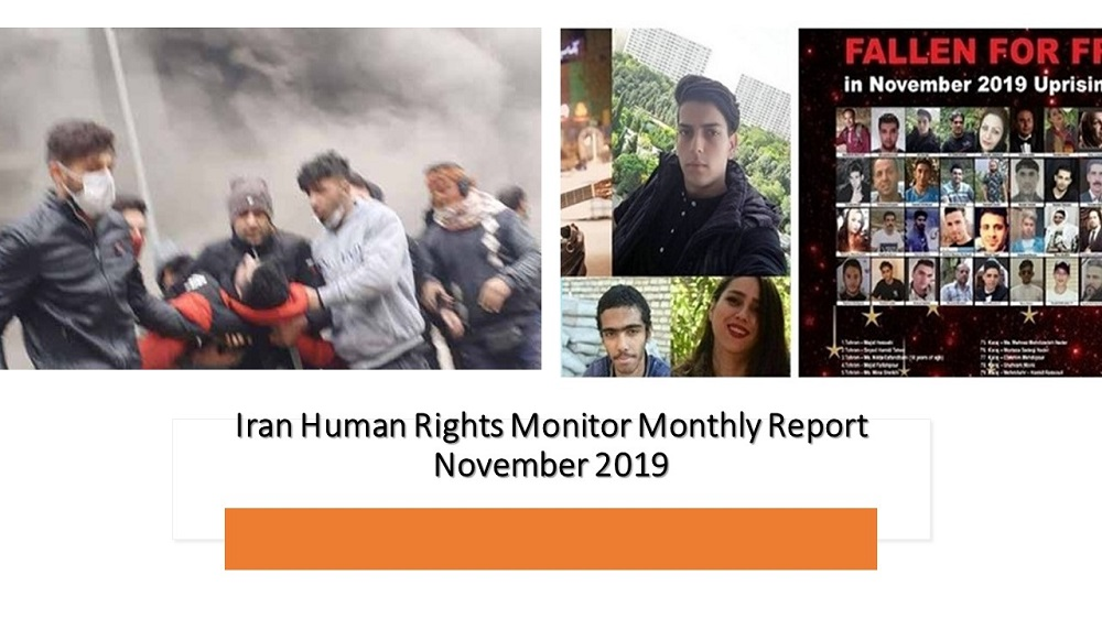 At Least 1000 Protesters Killed in Iran in November - Monthly Report by Human Rights Group