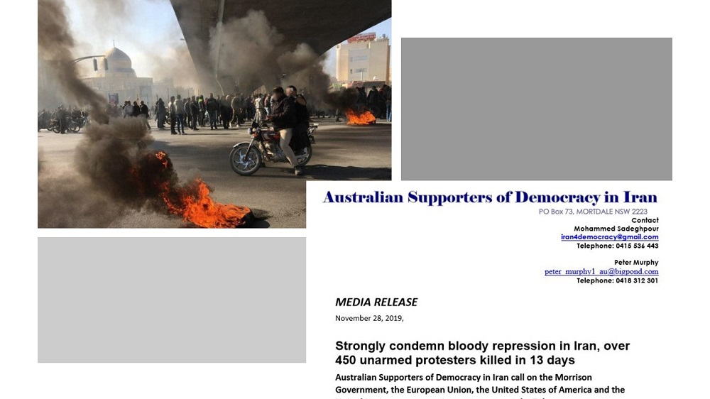 Australian Rights Group Condemns Crackdown on Iran Protests