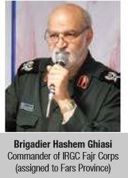 Brigadier Hashem Ghiasi Commander of IRGC Fajr Corps (assigned to Fars Province)