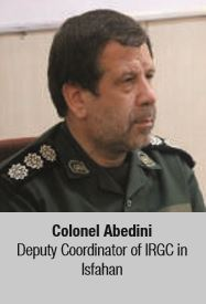 Colonel Abedini Deputy Coordinator of IRGC in Isfahan