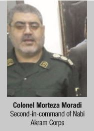 Colonel Morteza Moradi Second-in-command of Nabi Akram Corps