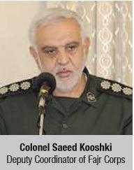Colonel Saeed Kooshki Deputy Coordinator of Fajr Corps
