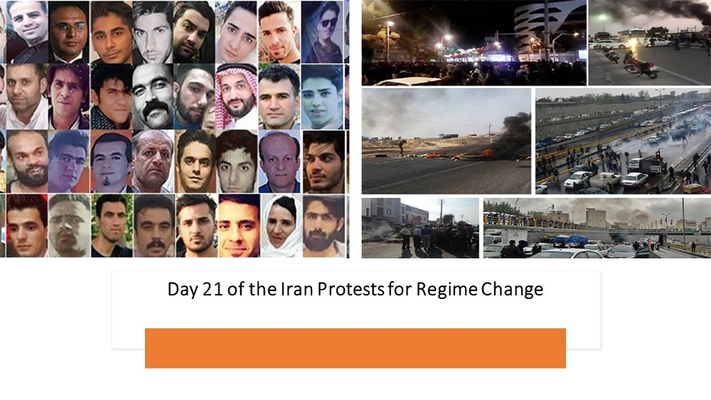 Day 21 of the Iran Protests for Regime Change