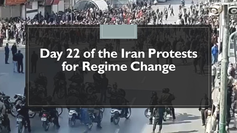 Day 22 of the Iran Protests for Regime Change