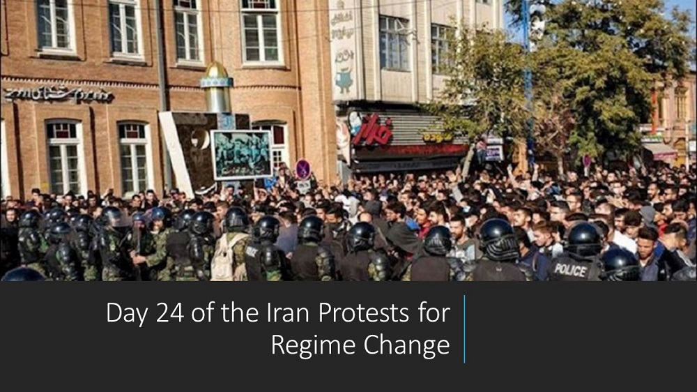 Day 24 of the Iran Protests for Regime Change