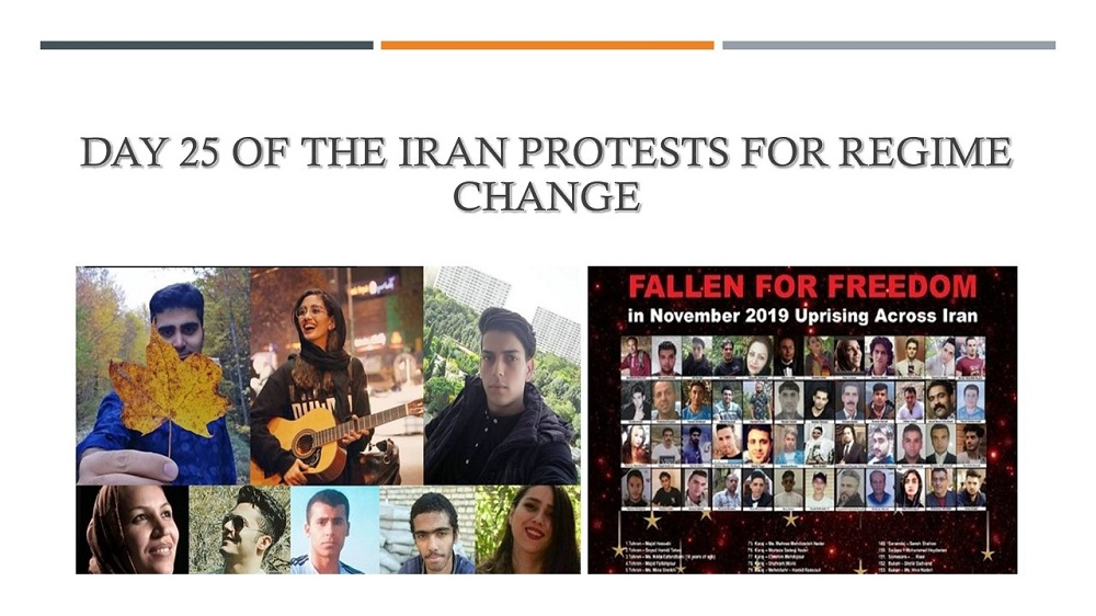 Day 25 of the Iran Protests for Regime Change