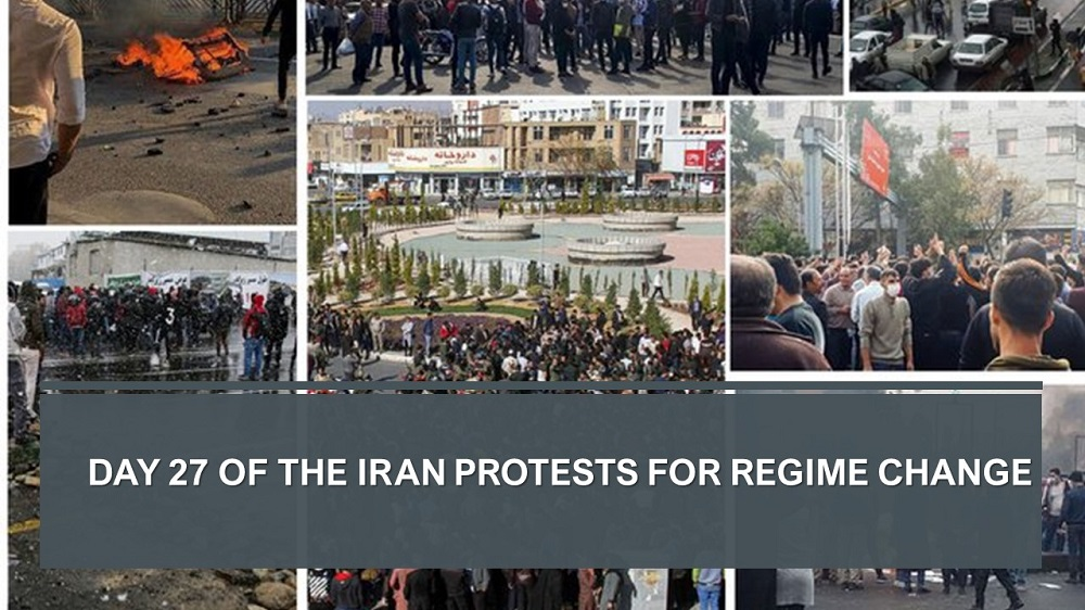 Day 27 of the Iran Protests for Regime Change