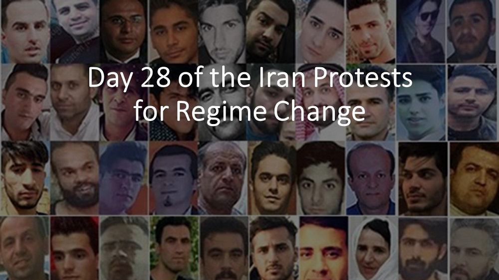 Day 28 of the Iran Protests for Regime Change