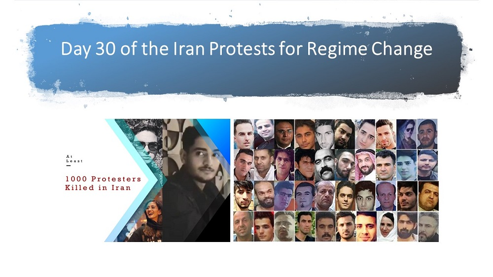 Day 30 of the Iran Protests for Regime Change