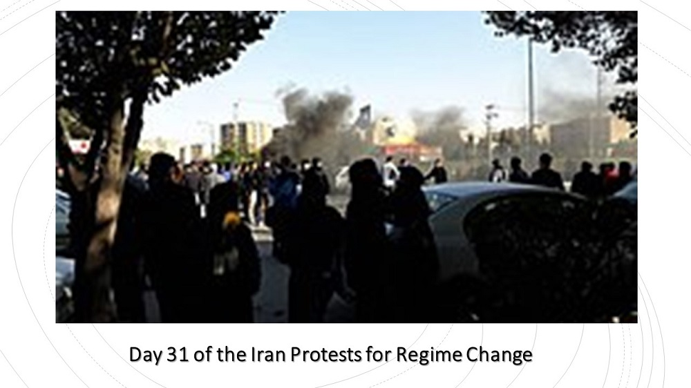 Day 31 of the Iran Protests for Regime Change
