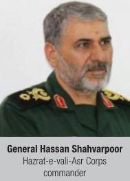 General Hassan Shahvarpoor Hazrat-e-vali-Asr Corps commander
