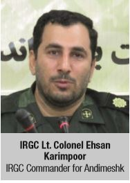 IRGC Lt. Colonel Ehsan Karimpoor IRGC Commander for Andimeshk