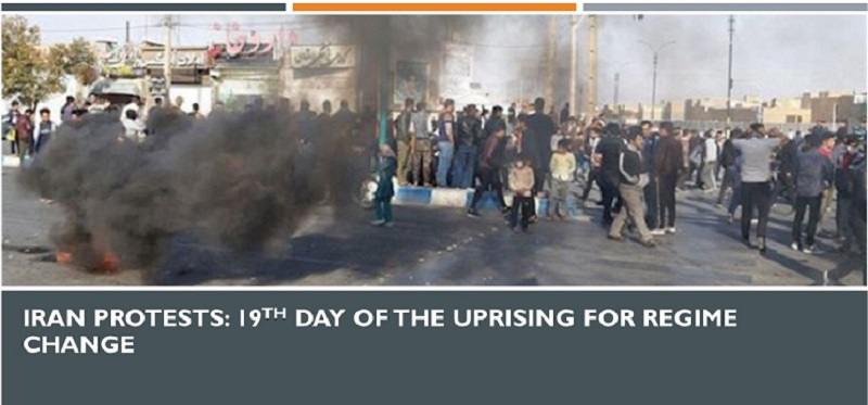 Iran Protests: 19th Day of the Uprising for Regime Change