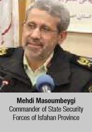 Mehdi Masoumbeygi Commander of State Security Forces of Isfahan Provinc