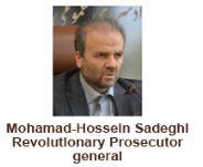 Mohammad-Hossein Sadeghi Revolutionary Prosecutor General