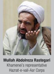 Mullah Abdolreza Rastegari Khamenei's representative Hazrat-e-vali-Asr Corps