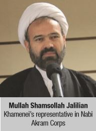Mullah Shamsollah Jalilian Khamenei's representative in Nabi Akram Corps