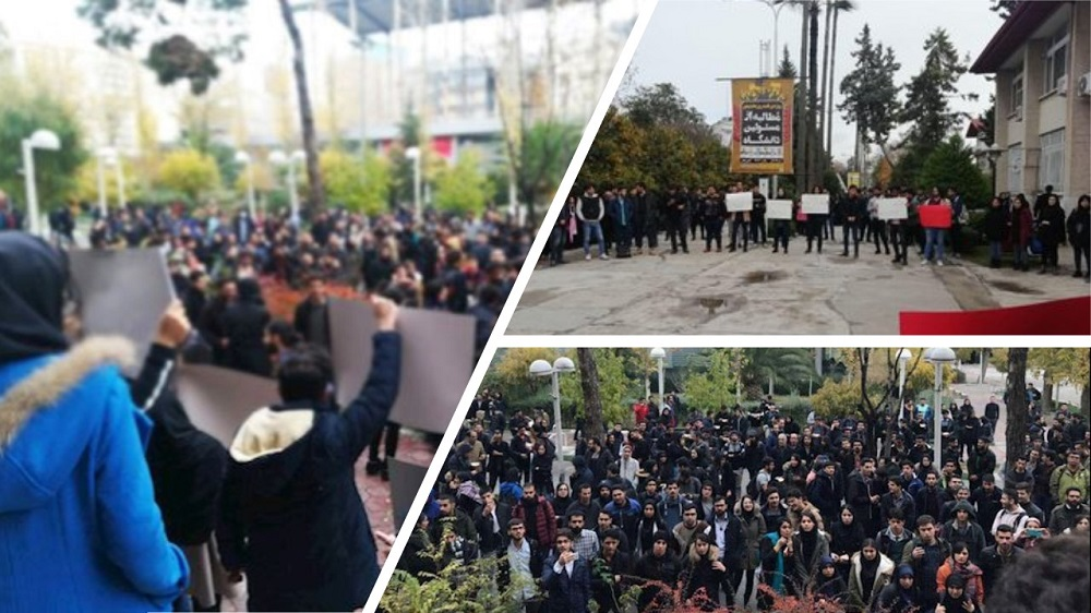 """Students Stage Protest in Tehran, Polytechnic Universities, Chanting, """"I Will Kill Whoever Killed My Brother."""""""