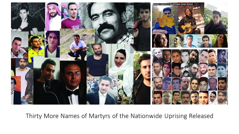 Thirty More Names of Martyrs of the Nationwide Uprising Released