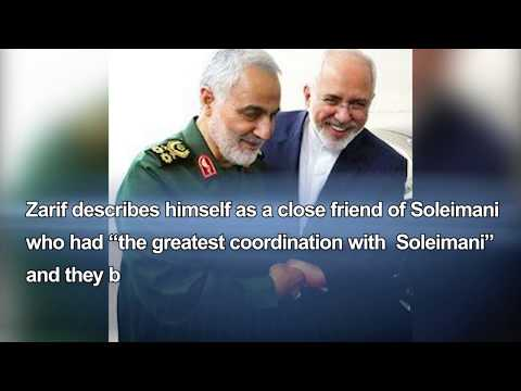 Iran FM Javad Zarif, and Chieftain terrorist Qassem Soleimani, two side of the same coin