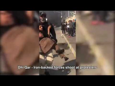 Iraqi protesters torch the Iranian regime's consulate in Najaf, clashes in other cities