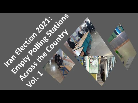 Iran Election 2021: Empty Polling Stations Across the Country (Compilation vol.1)